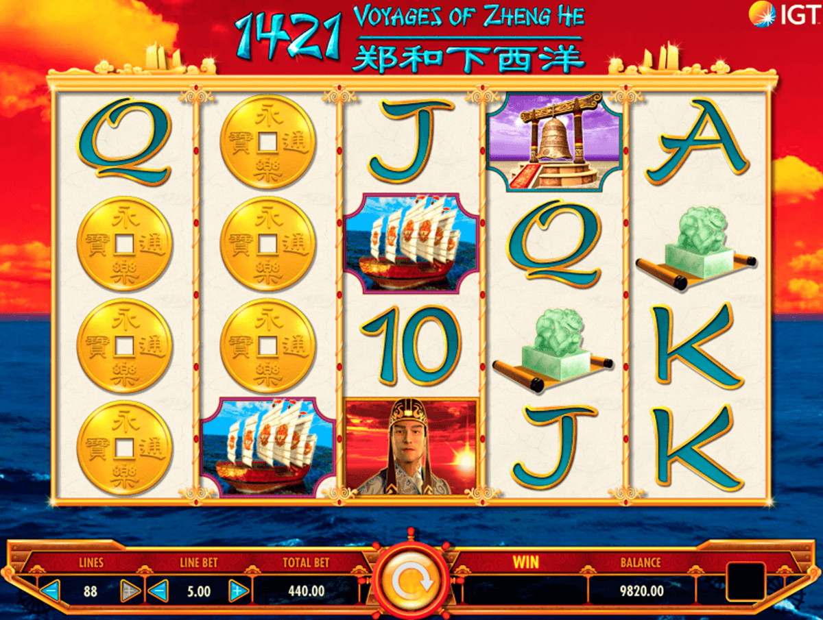 1421 voyages of zheng he igt jogo casino online