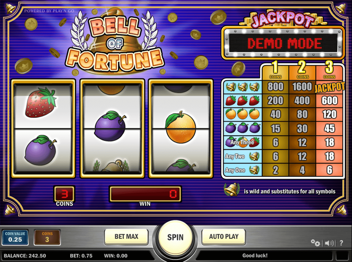 bell of fortune playn go jogo casino online