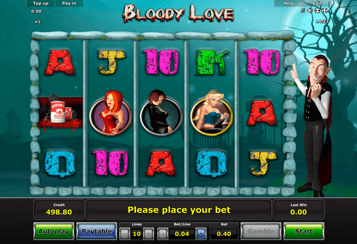 bloody love novomatic jogo casino online