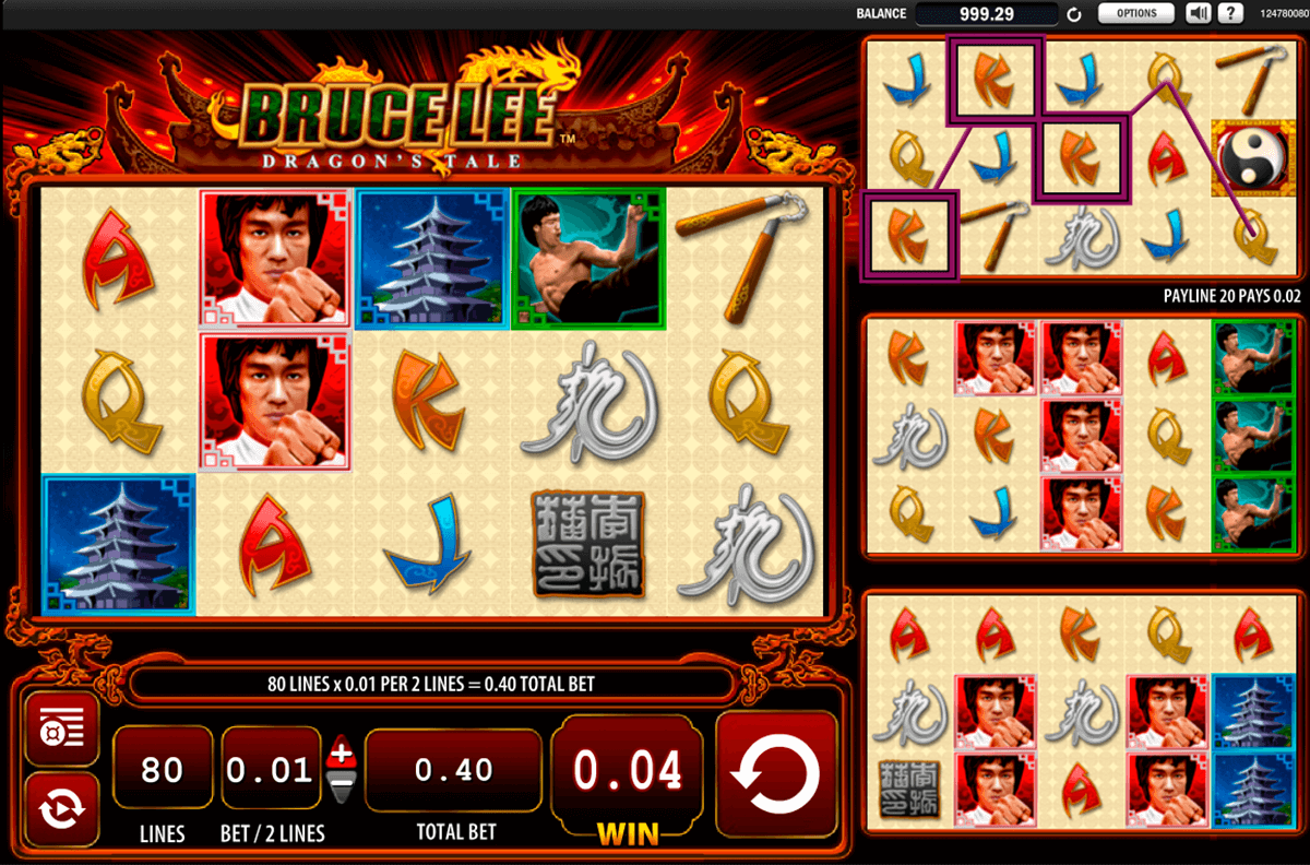 bruce lee dragons tale wms jogo casino online