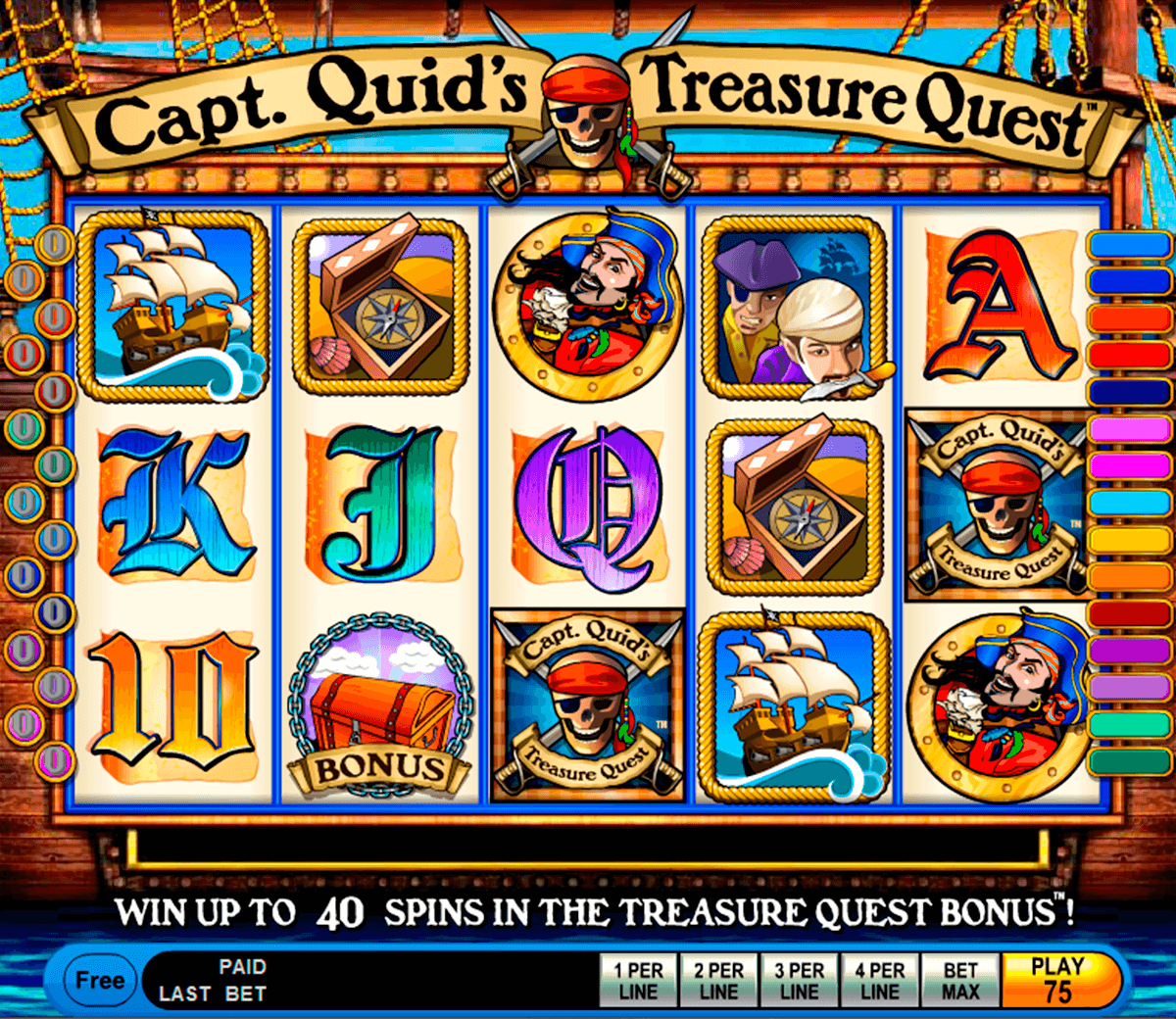 capt quids treasure quest igt jogo casino online
