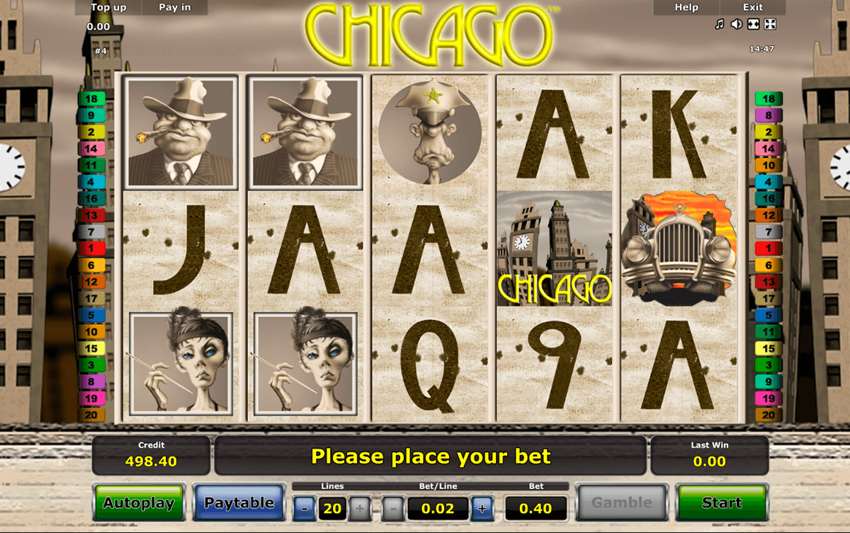 chicago novomatic jogo casino online