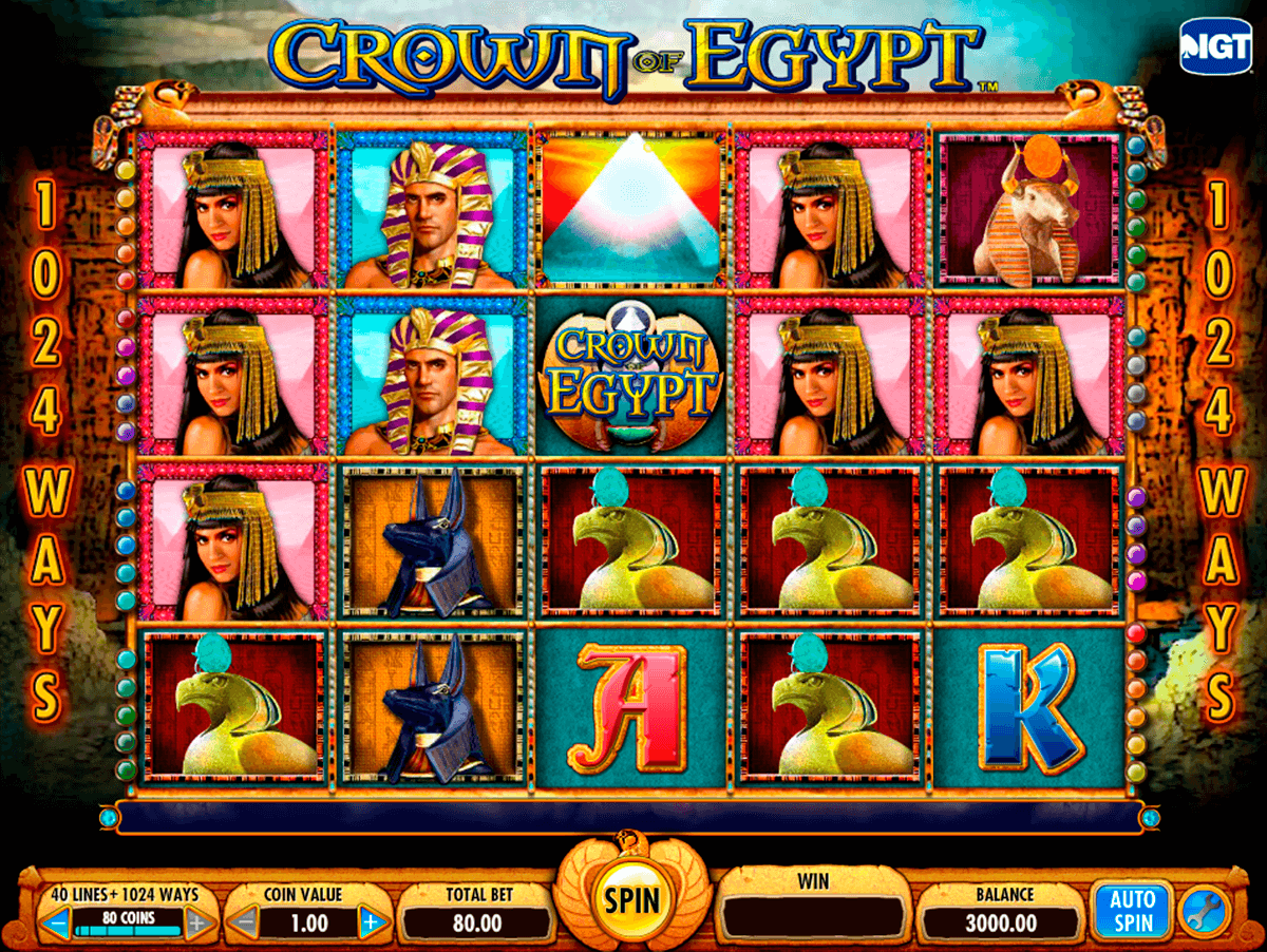 crown of egypt igt jogo casino online