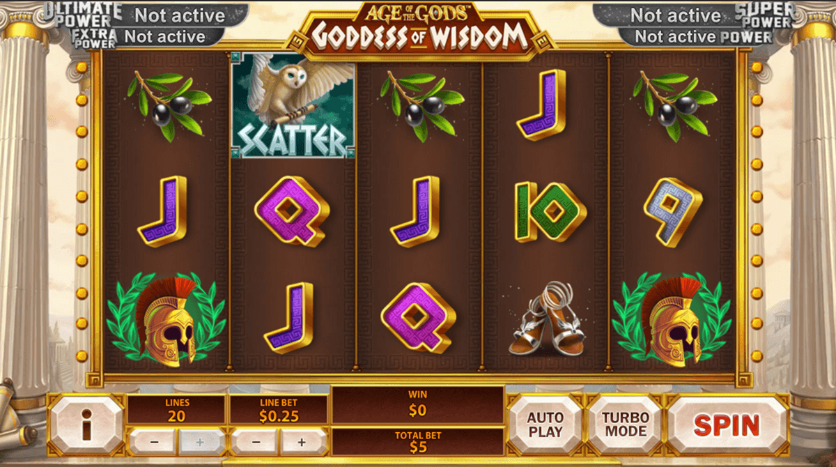 age of the gods goddess of wisdom playtech jogo casino online
