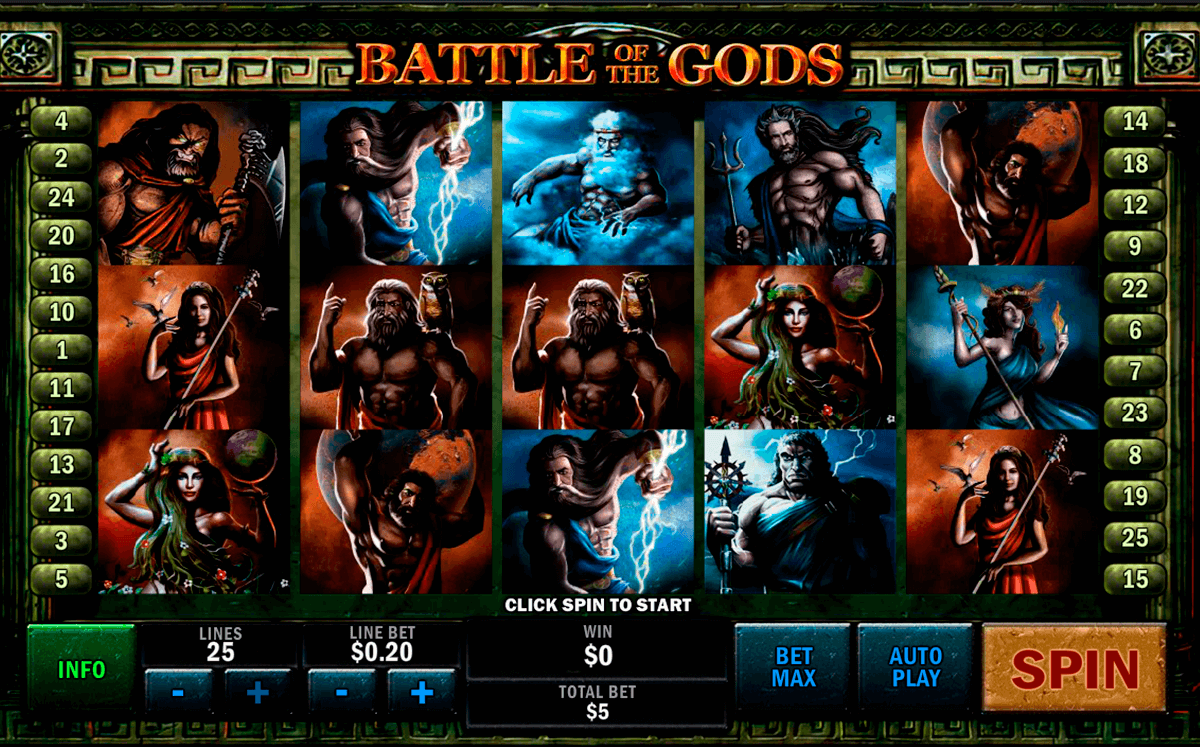 battle of the gods playtech jogo casino online
