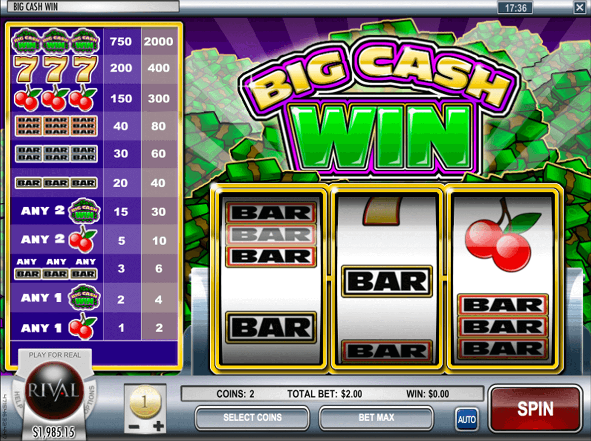 big cash win rival jogo casino online