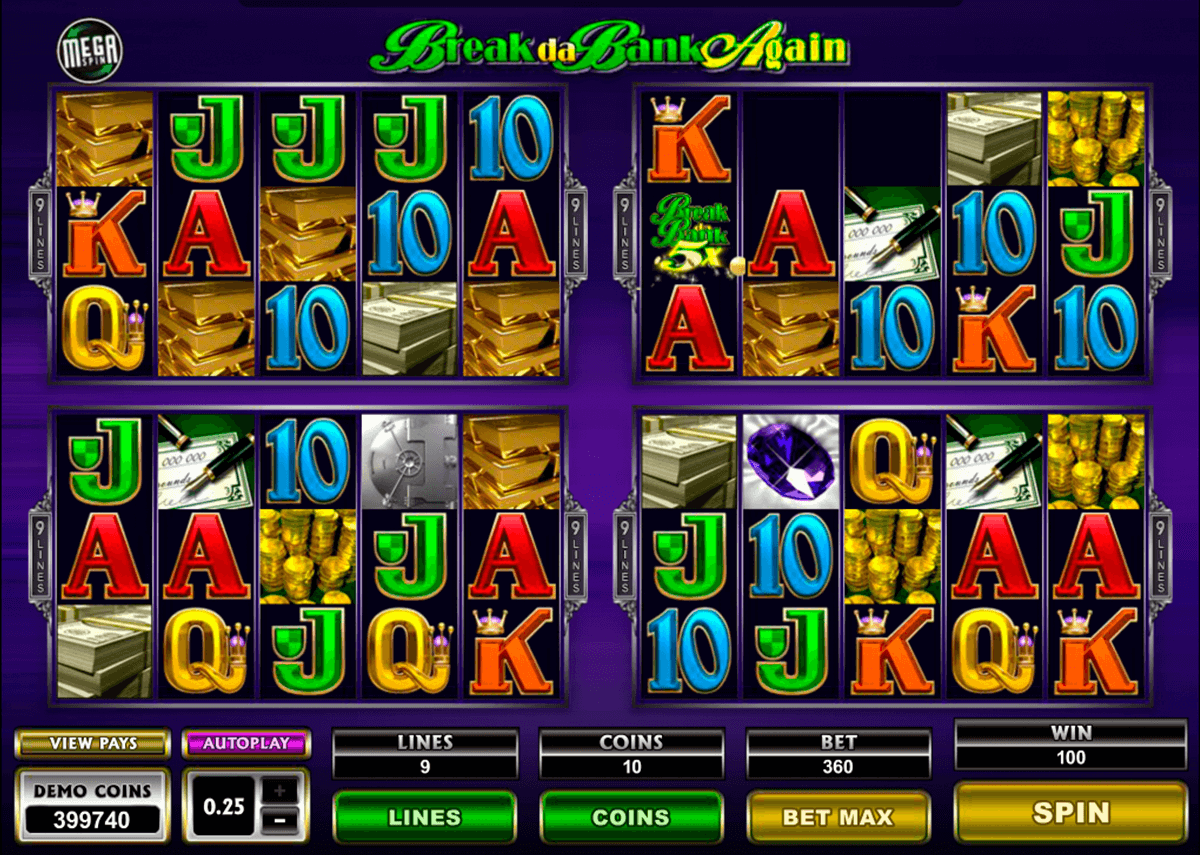 break da bank again megaspin microgaming jogo casino online