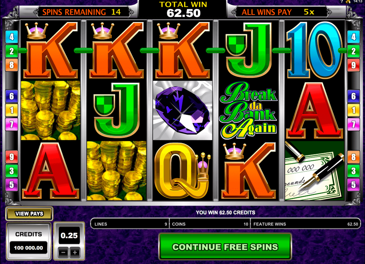 break da bank again microgaming jogo casino online