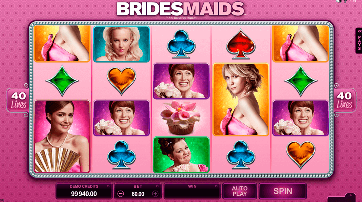 bridesmaids microgaming jogo casino online