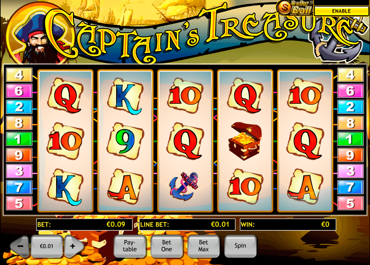 captains treasure playtech jogo casino online