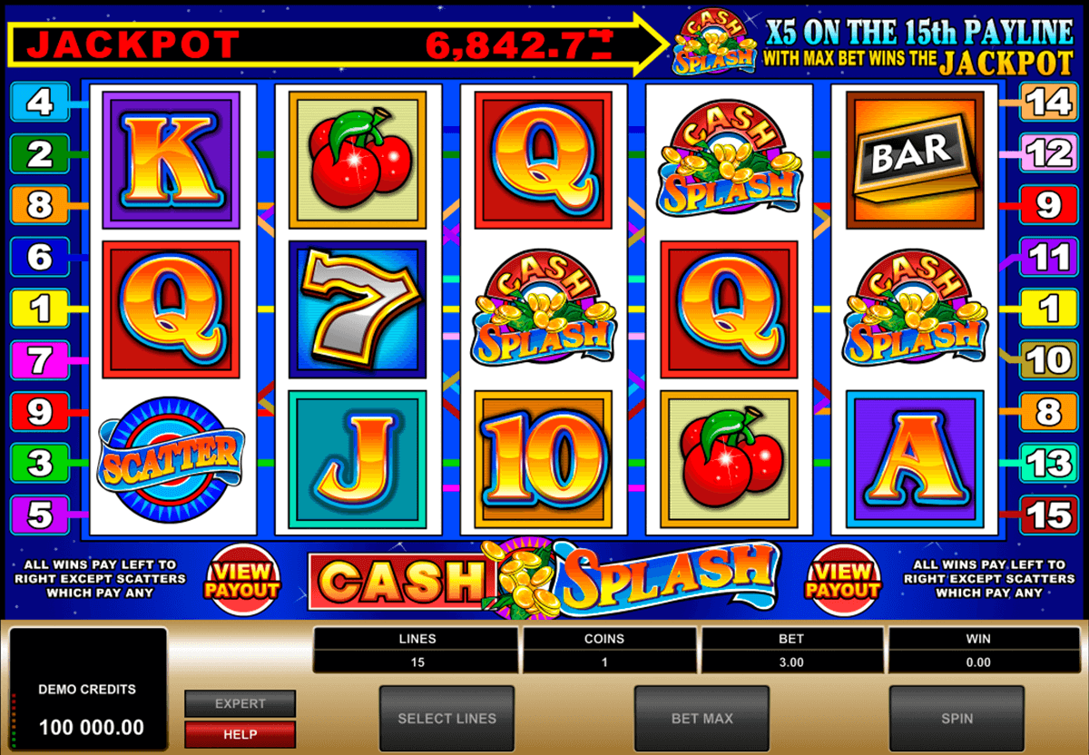 cashsplash video slot microgaming jogo casino online
