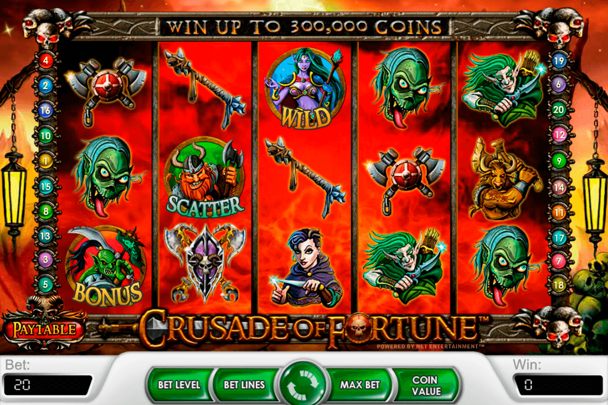 crusade of fortune netent jogo casino online