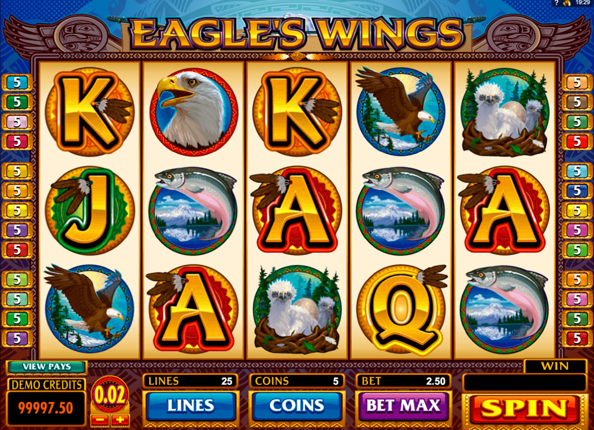 eagles wings microgaming jogo casino online