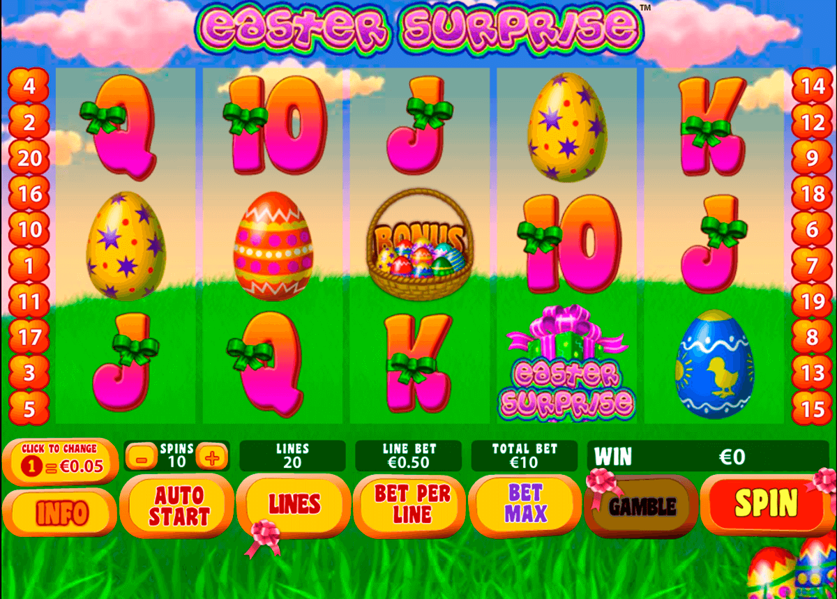 easter surprise playtech jogo casino online