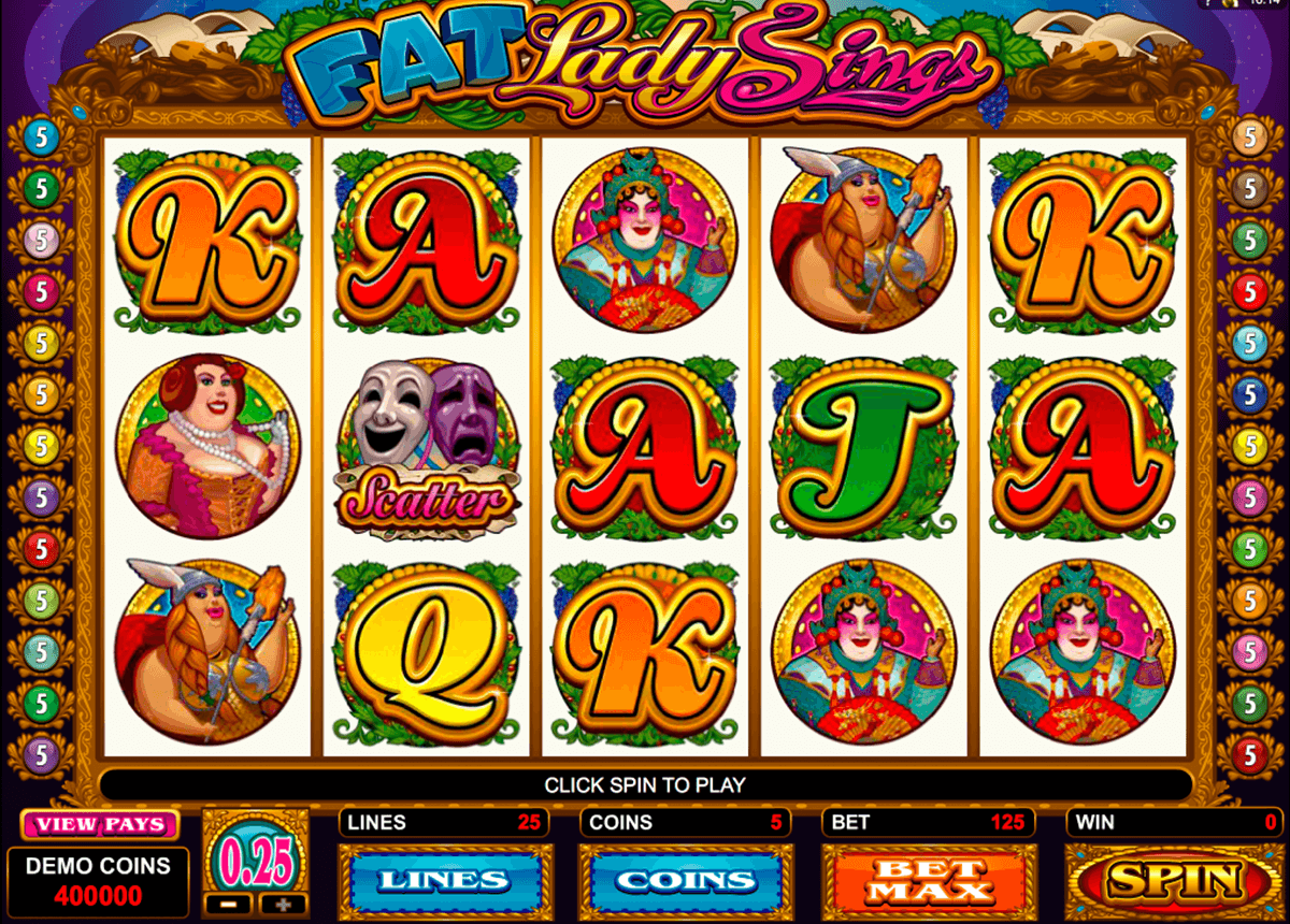 fat lady sings microgaming jogo casino online