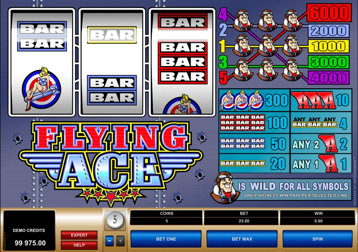 flying ace microgaming jogo casino online