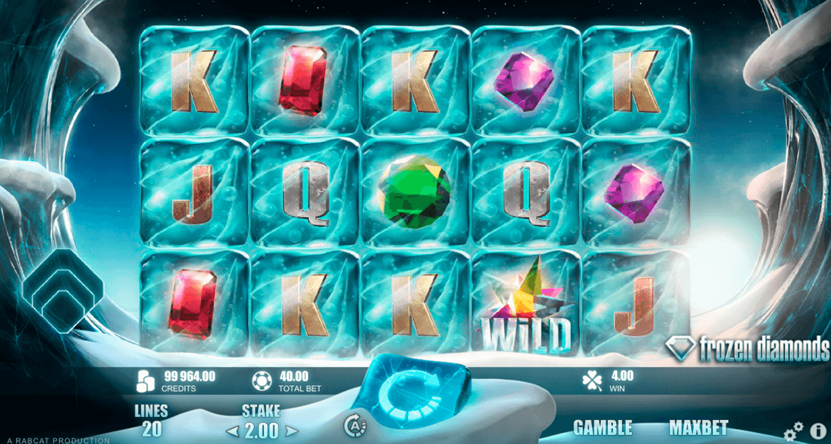frozen diamonds rabcat jogo casino online