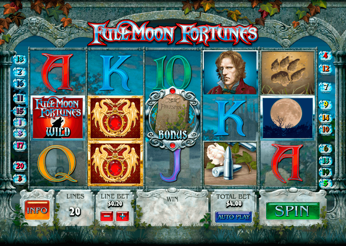 full moon fortunes playtech jogo casino online