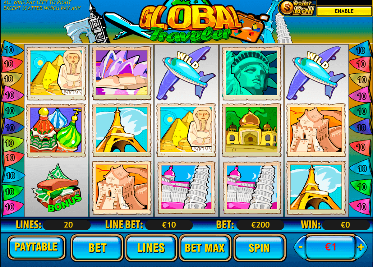 global traveler playtech jogo casino online