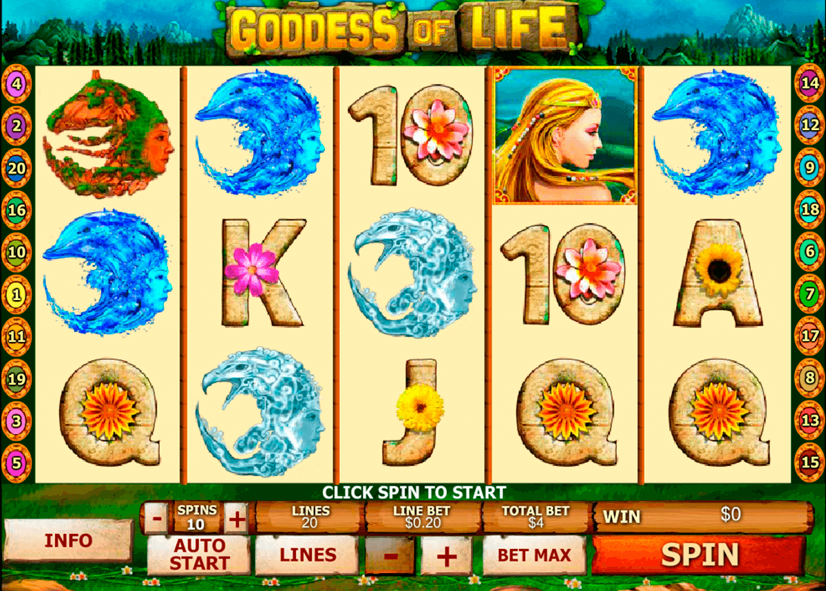 goddess of life playtech jogo casino online