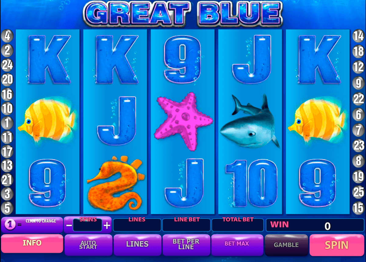 great blue playtech jogo casino online