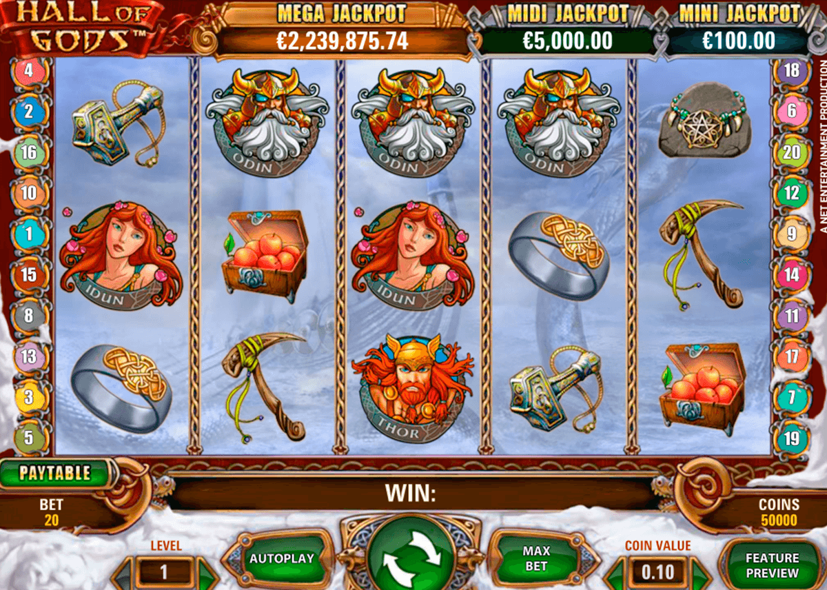 hall of gods netent jogo casino online