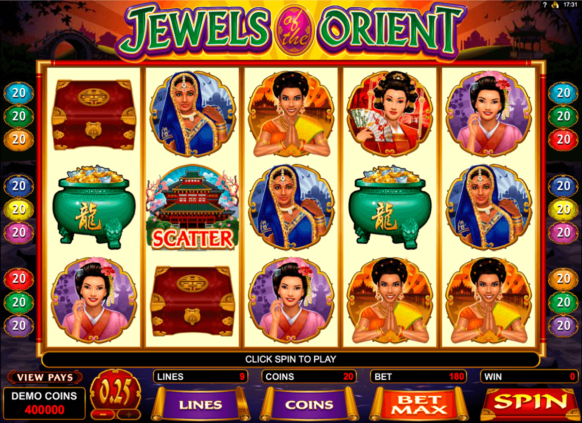 jewels of the orient microgaming jogo casino online