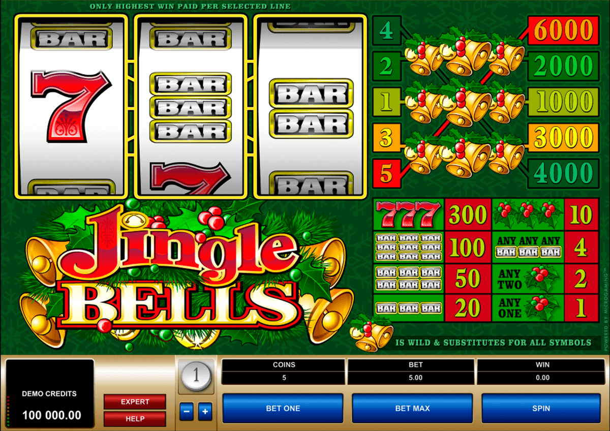 jingle bells microgaming jogo casino online