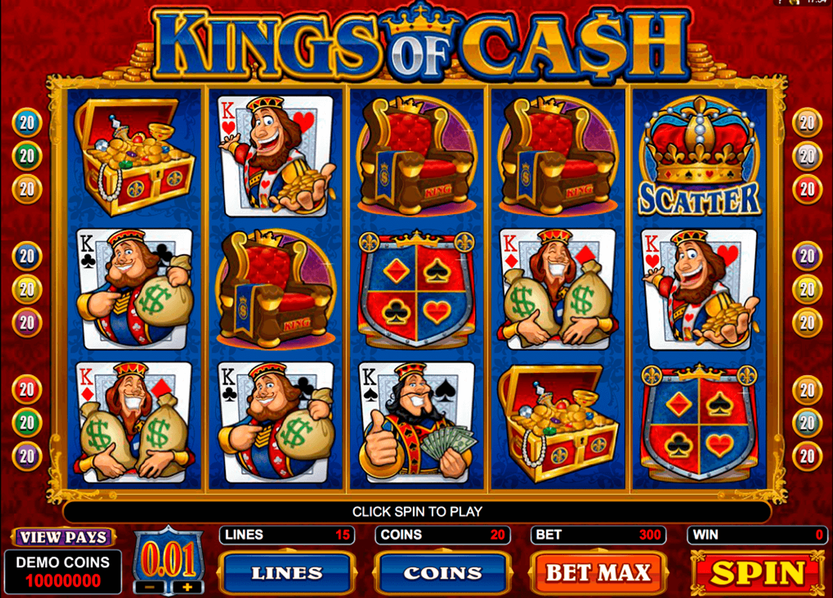 kings of cash microgaming jogo casino online