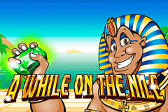 logo a while on the nile nextgen gaming caça niquel