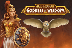 logo age of the gods goddess of wisdom playtech caça niquel