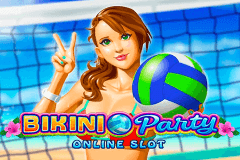 logo bikini party microgaming caça niquel