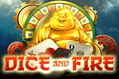 logo dice and fire pragmatic caça niquel