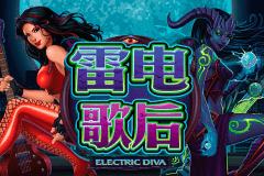 logo electric diva microgaming caça niquel