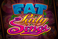 logo fat lady sings microgaming caça niquel