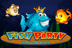 logo fish party microgaming caça niquel