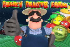 logo funky fruits farm playtech caça niquel