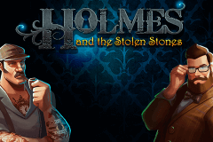 logo holmes and the stolen stones caça niquel