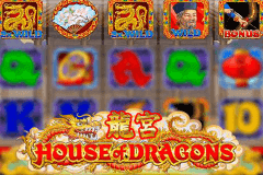 logo house of dragons microgaming caça niquel