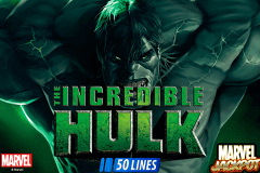 logo incredible hulk playtech caça niquel