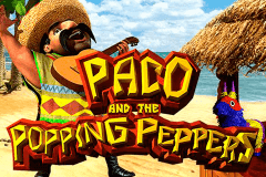 logo paco and the popping peppers betsoft caça niquel