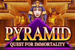 logo pyramid quest for immortality netent caça niquel