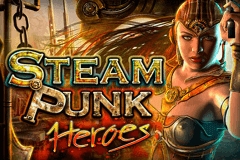 logo steam punk heroes microgaming caça niquel