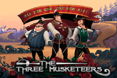 logo the three musketeers playtech caça niquel