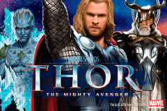 logo thor the mighty avenger playtech caça niquel