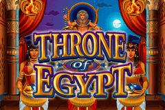 logo throne of egypt microgaming caça niquel