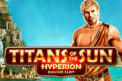 logo titans of the sun hyperion microgaming caça niquel