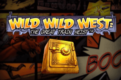 logo wild wild west the great train heist netent caça niquel