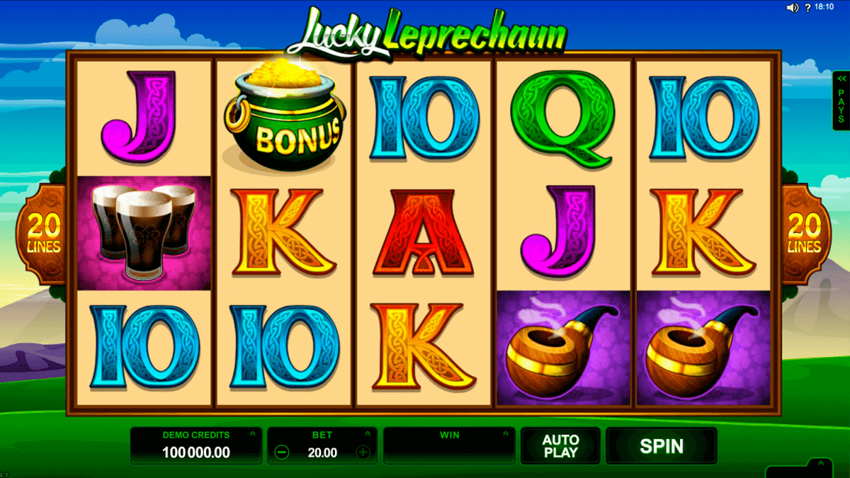 lucky leprechaun microgaming jogo casino online