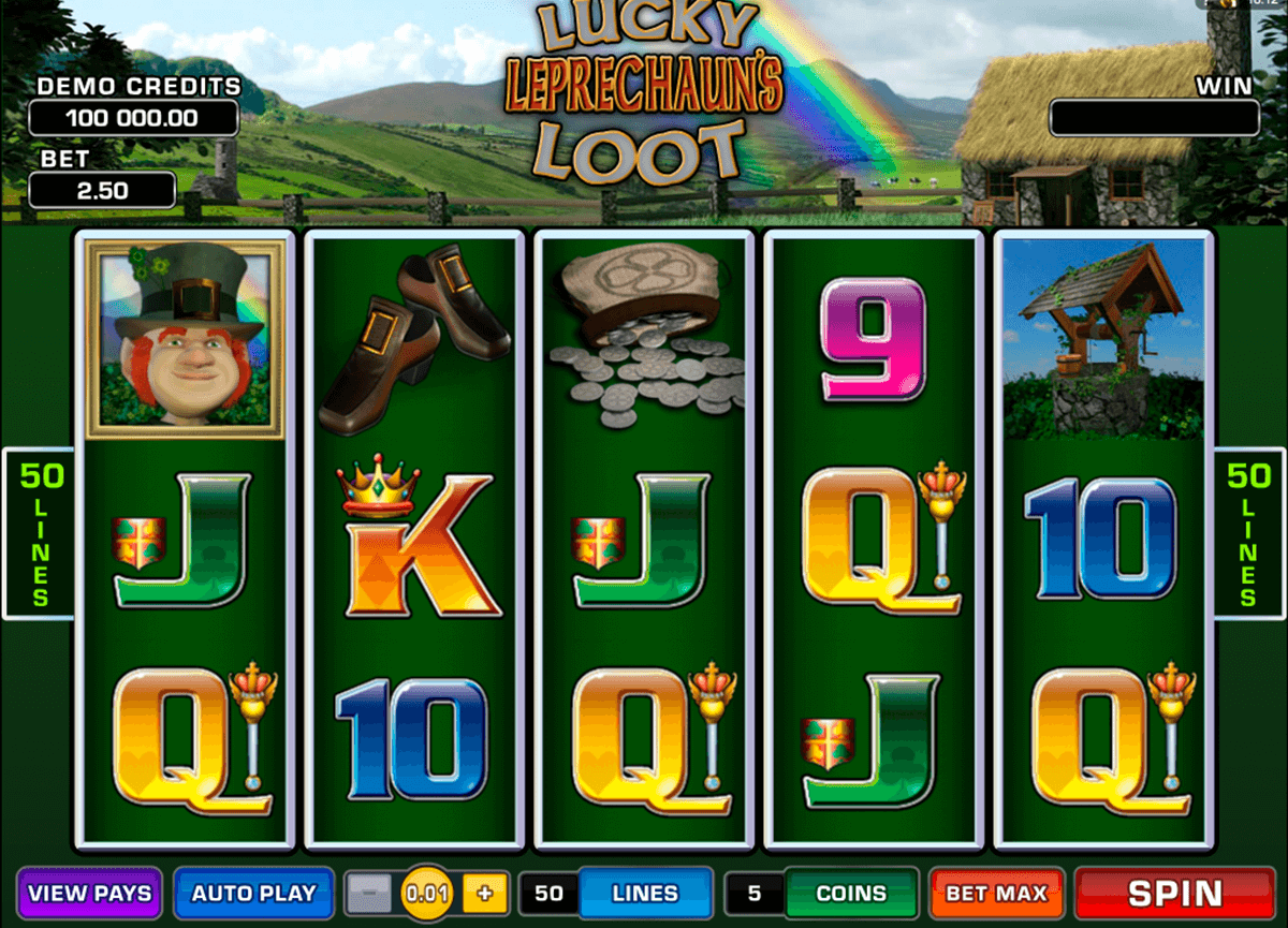 lucky leprechauns loot microgaming jogo casino online